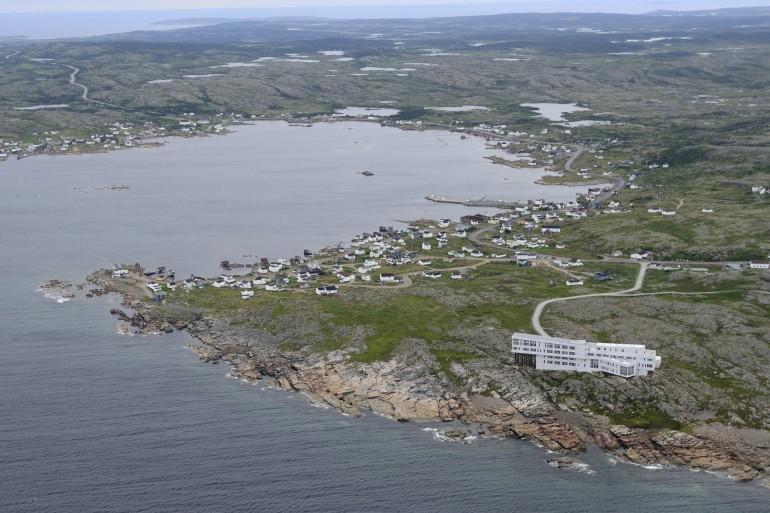 Fogo Island Inn Newfoundland aerial view