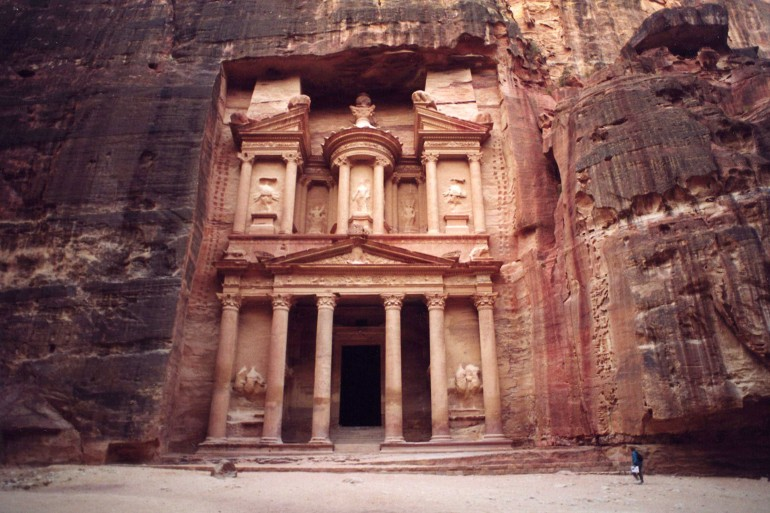 Alone in Petra at sunrise