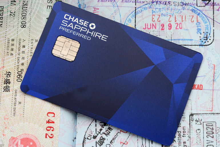 Chase Sapphire credit card with chip