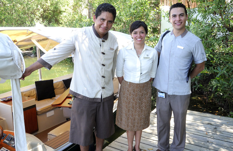 Staffers at Rosewood Mayakoba in Playa del Carmen, Mexico