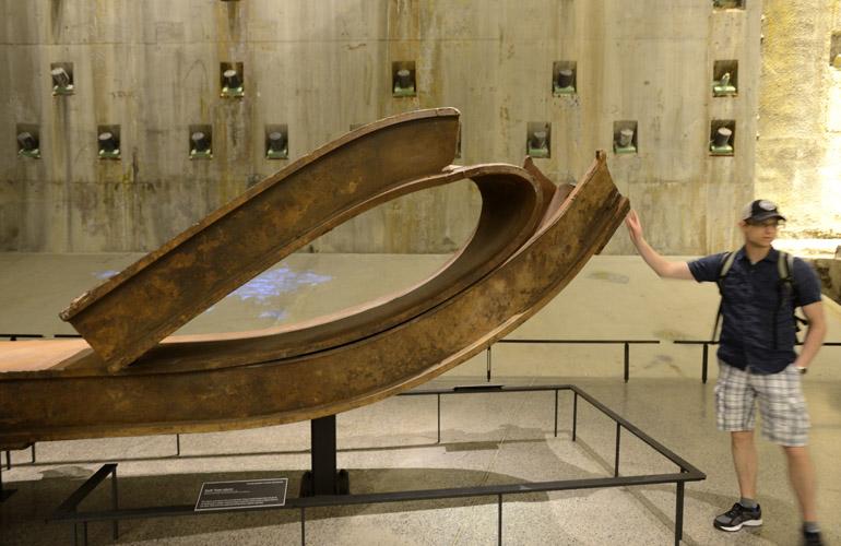 9/11 Museum Bent Steel Beam