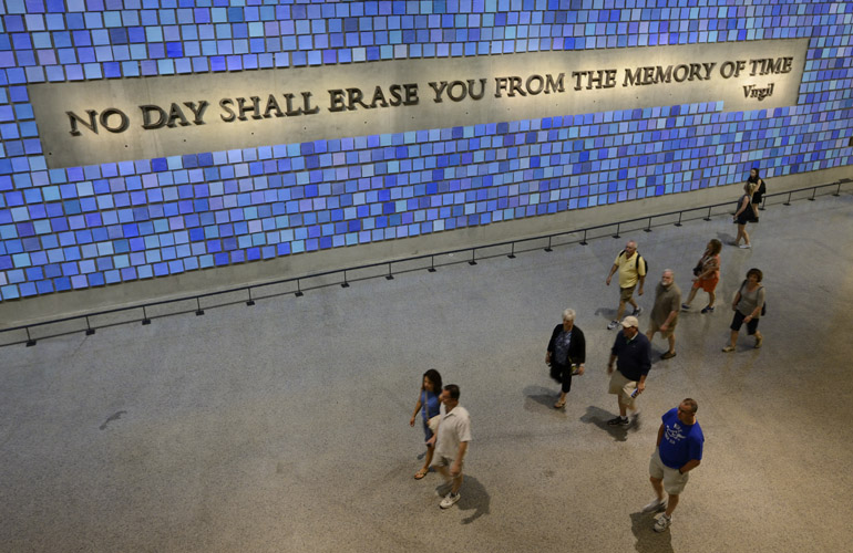 9/11 Museum Blue Tiles