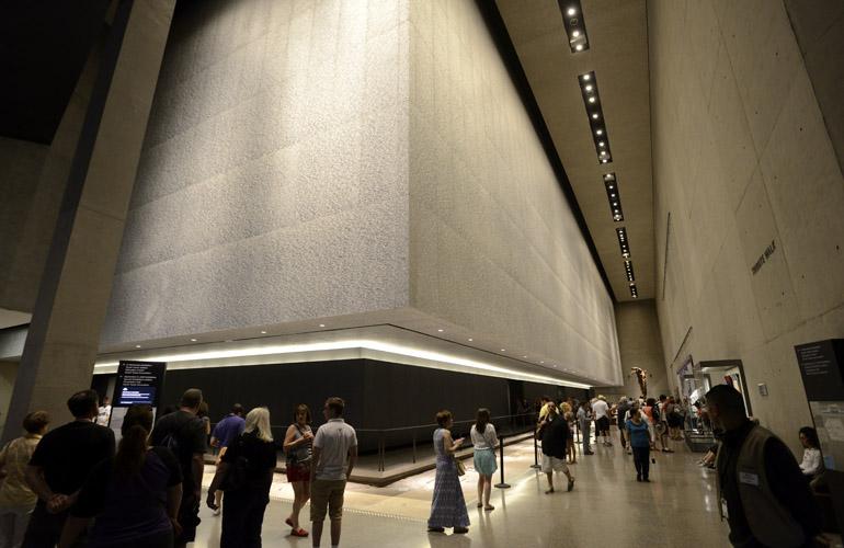 9/11 Memorial Pool Walls Underground