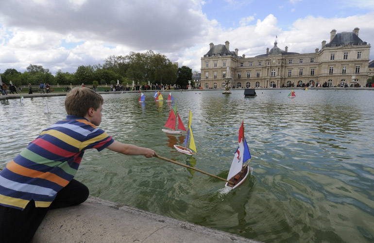 Luxembourg Gardens boat pond, Paris