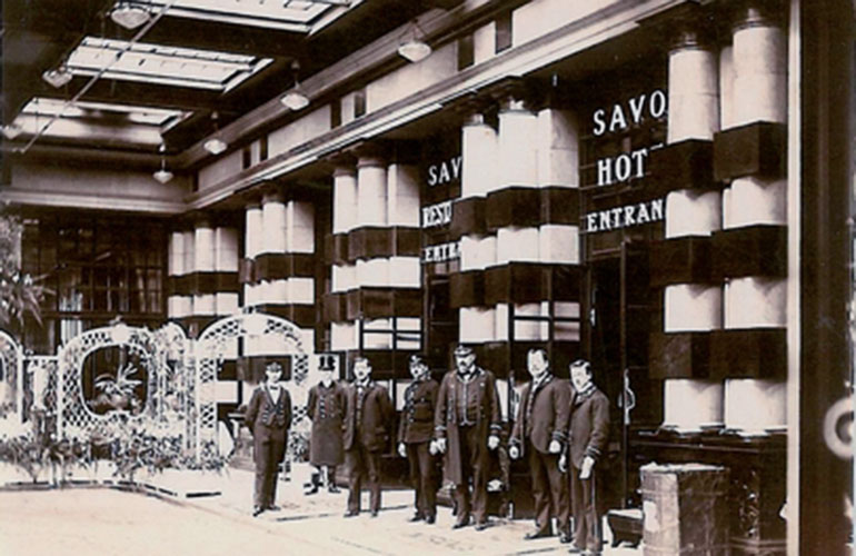 Savoy Hotel London Staff in 1904