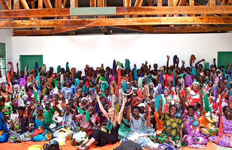 Brittany Merill Underwood and the Akola Project women of Uganda