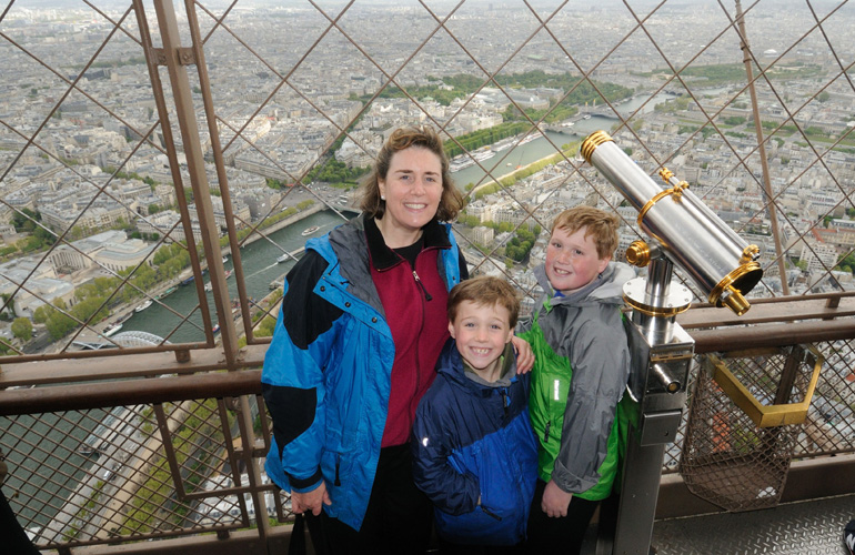 Wendy Perrin at the Eiffel Tower, france