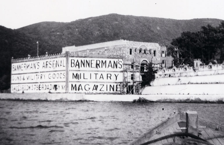 Bannerman Castle in the Hudson River New York 1905