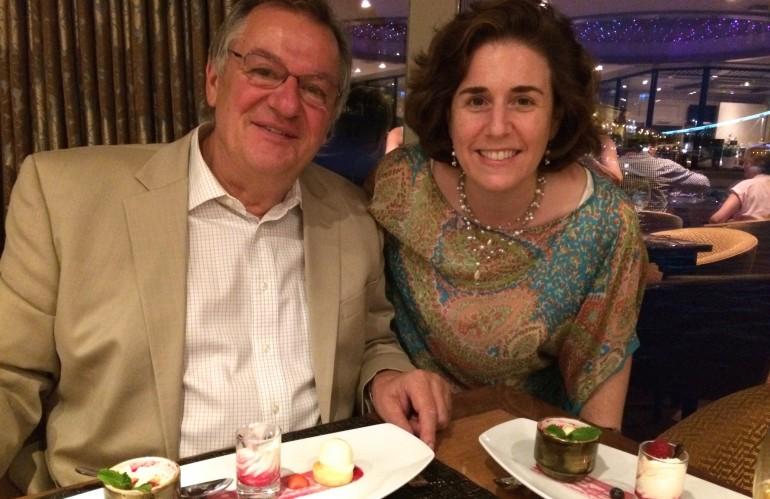 Rudi Schreiner and Wendy Perrin
