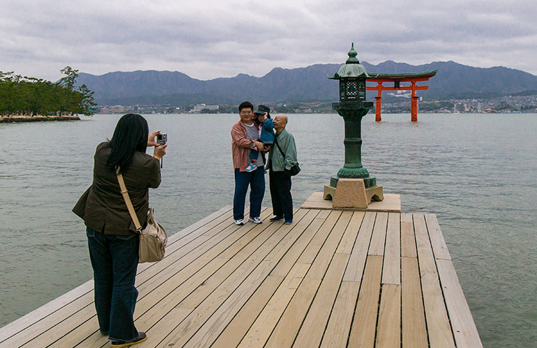 Itsukushima Shrine in Miyajima, Japan