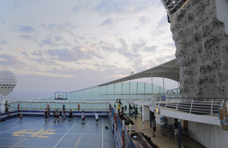 cruise ship basketball court