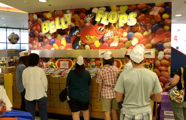 Jelly Belly factory seconds are called Belly Flops
