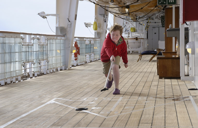 cruise ship shuffleboard