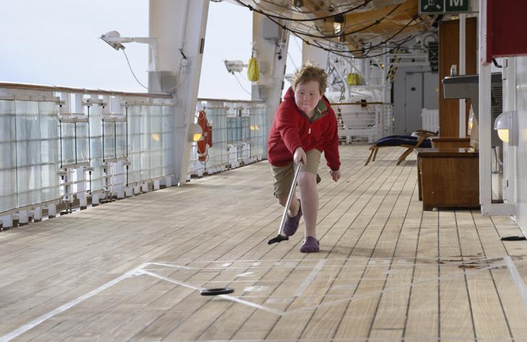 cruise ship shuffleboard