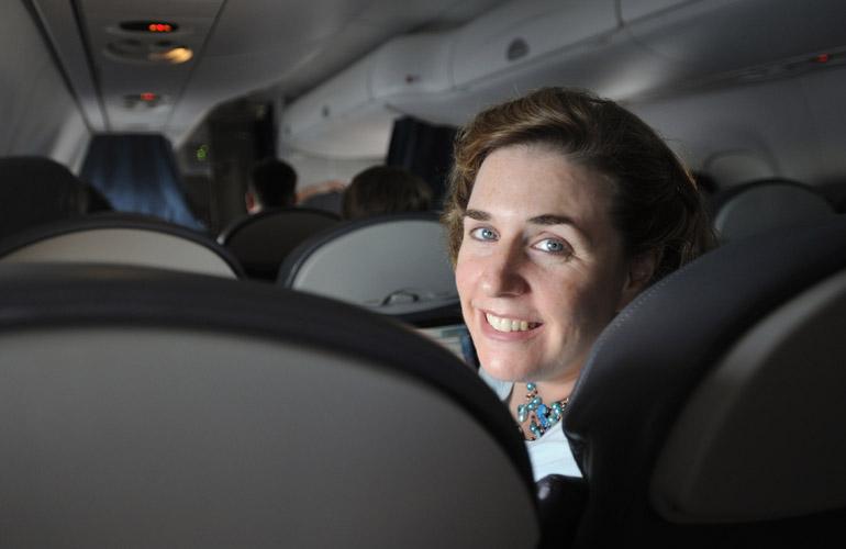 Wendy Perrin on airplane