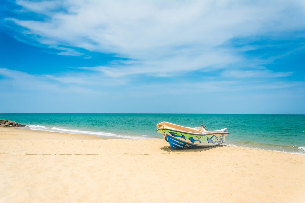 eautiful Tropical Beach In Kalpitiya, Sri Lanka. These boats used to take people to watch dolphins
