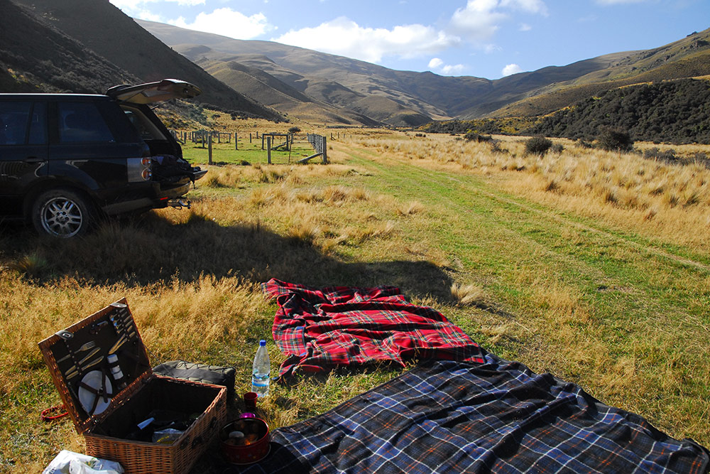 Picnic, Dunstan Ranges, New Zealand