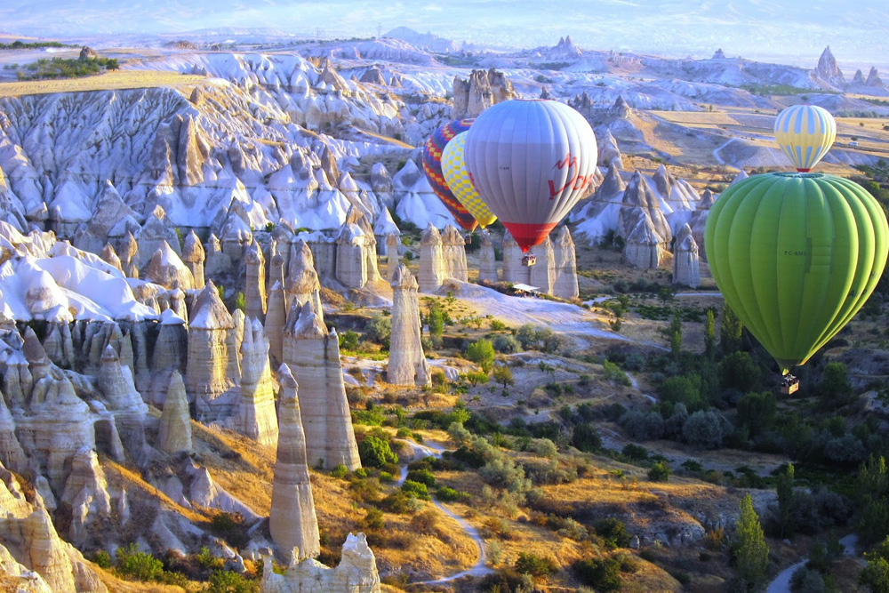 Balloons over Cappadocia. Photograph courtesy of Earl Starkey