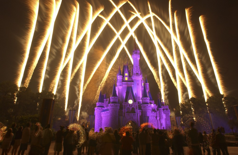 Fireworks at Disney World, Orlando, Florida.