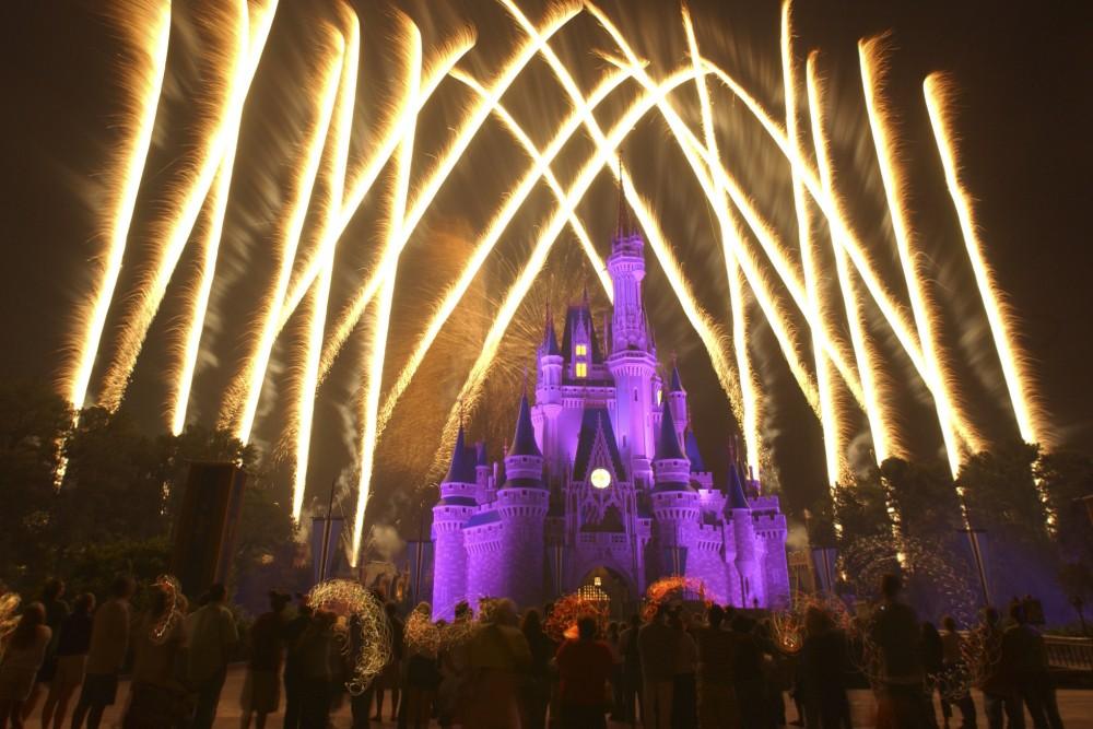 Fireworks at Disney World, Orlando, Florida.