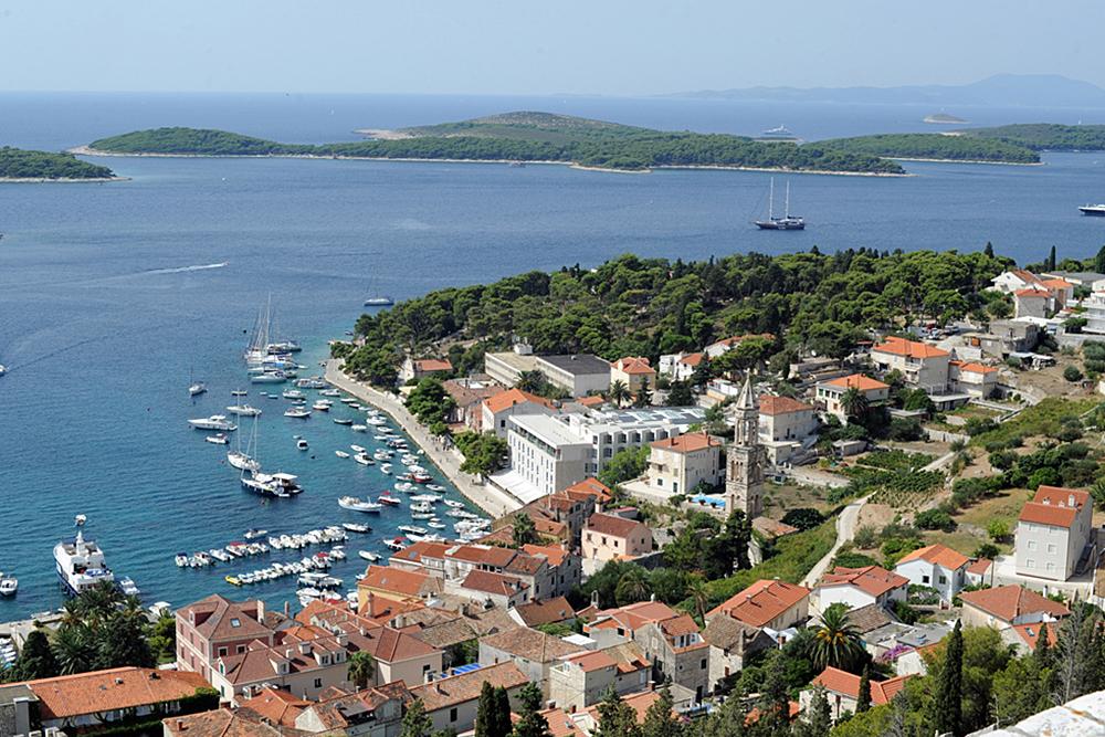 The Harbor in Hvar, Croatia