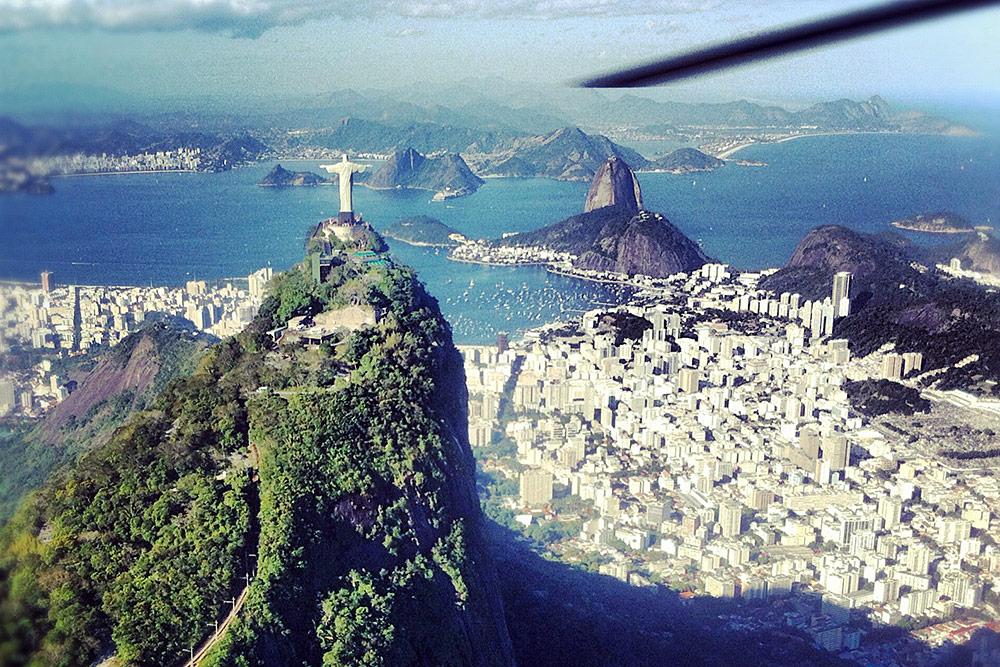 Rio de Janeiro, Brazil, from a helicopter.