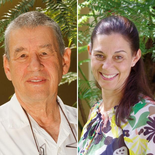 Michael Kaye and Natalie Ewing