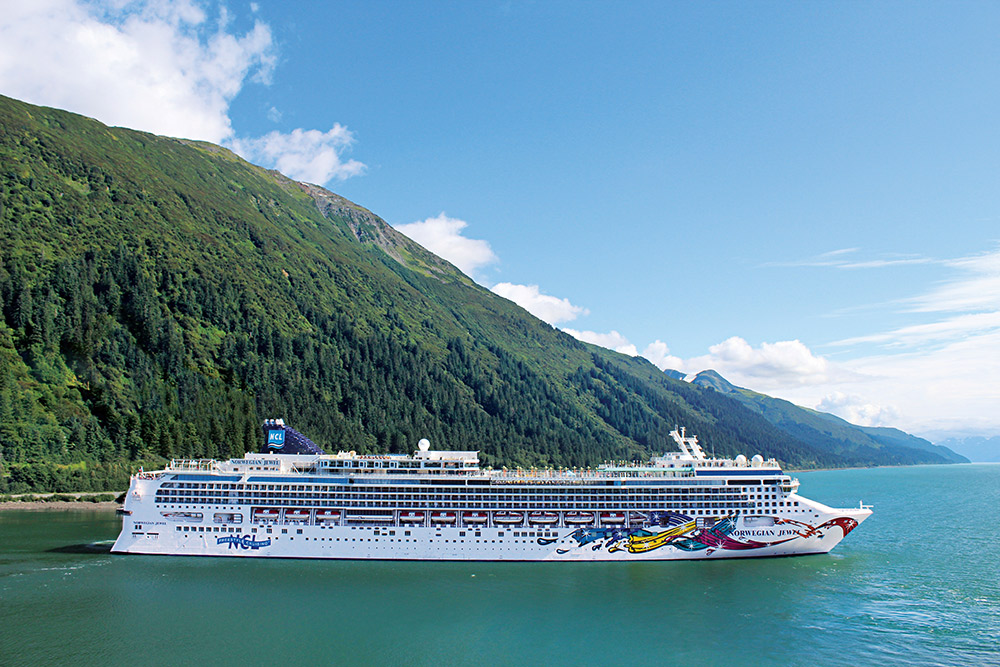 Norwegian Jewel cruise ship in Juneau, Alaska