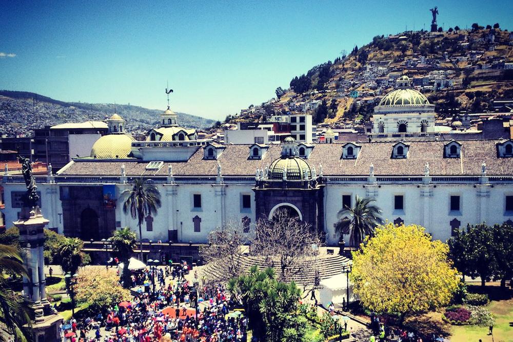 Quito plaza, Ecuador