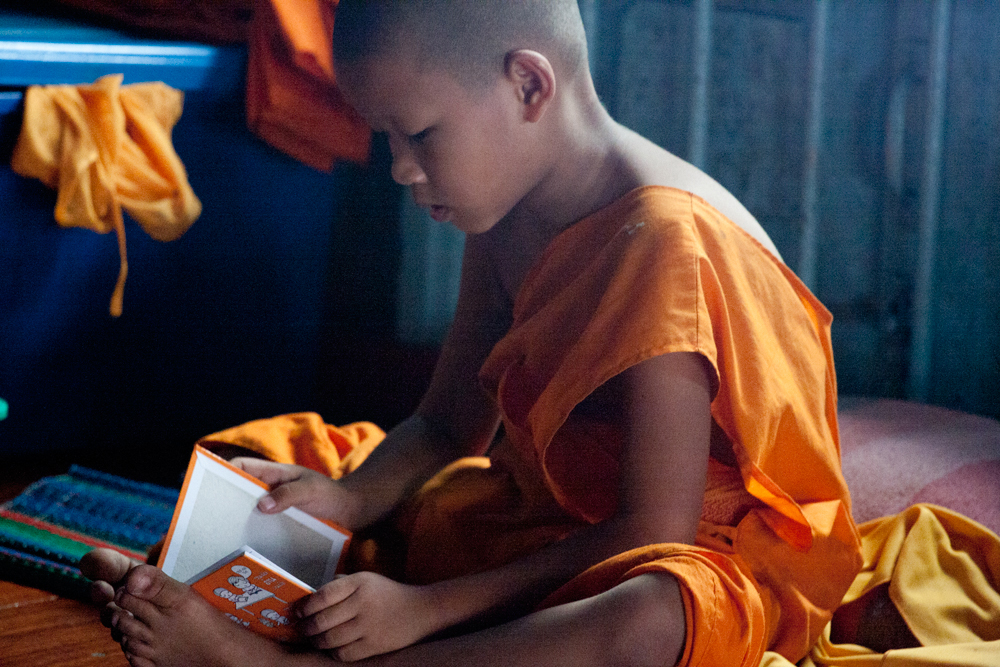 Young Monk, Chiang Mai, Thailand. Photograph by C. Kennerly