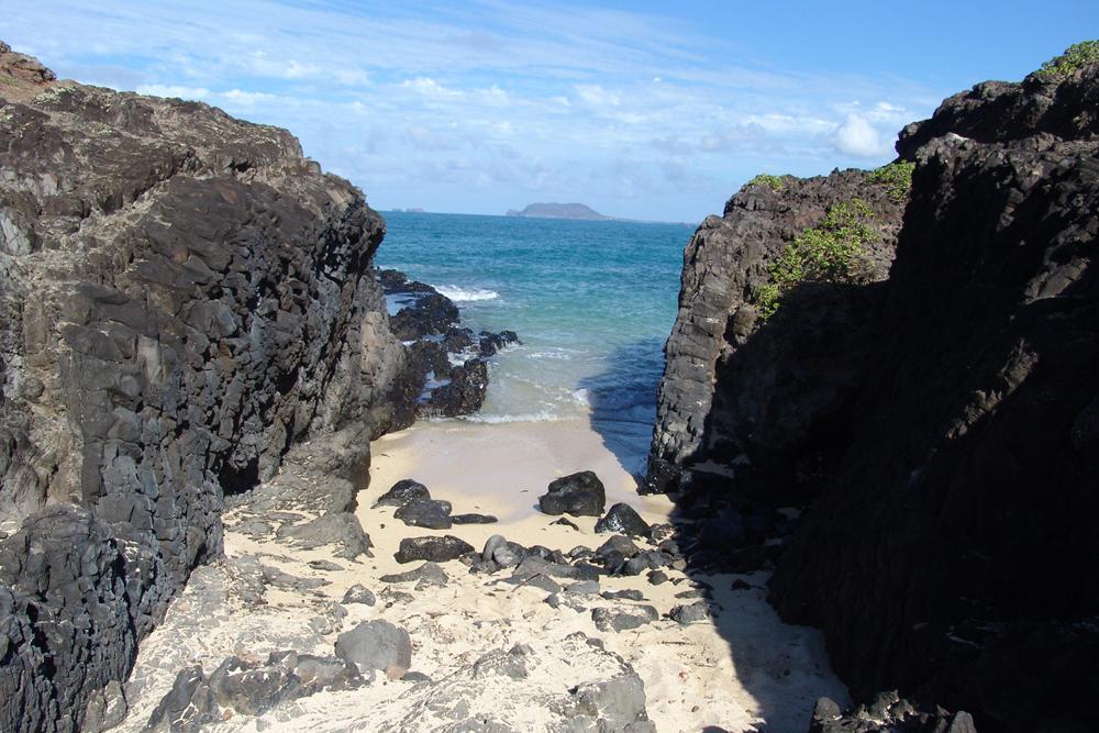 Beach passageway, Oah'u, Hawaii.