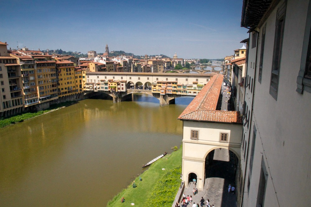 vasari corridor florence photo by Eric Stoen Travel Babbo