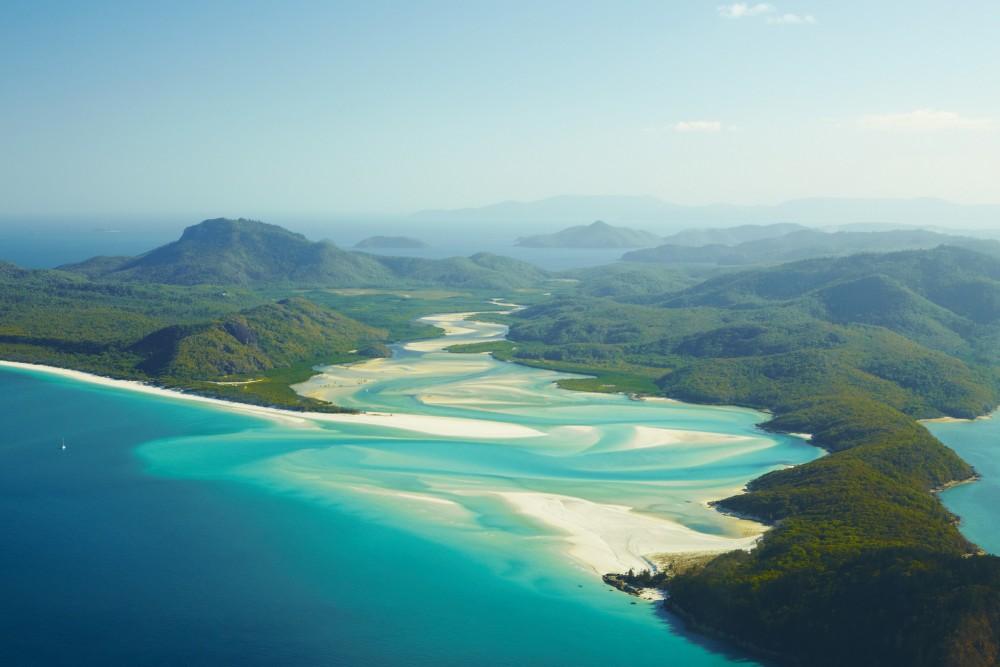 Whitehaven Beach, Whitsunday Island, Queensland.  Photo courtesy Tourism Australia.