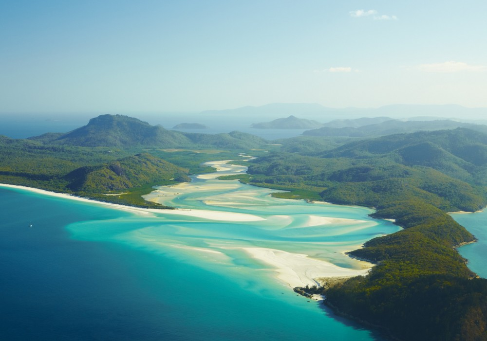 Whitehaven Beach, Whitsunday Island, Queensland.