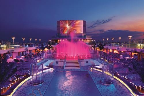 The pool on the Royal Princess cruise ship
