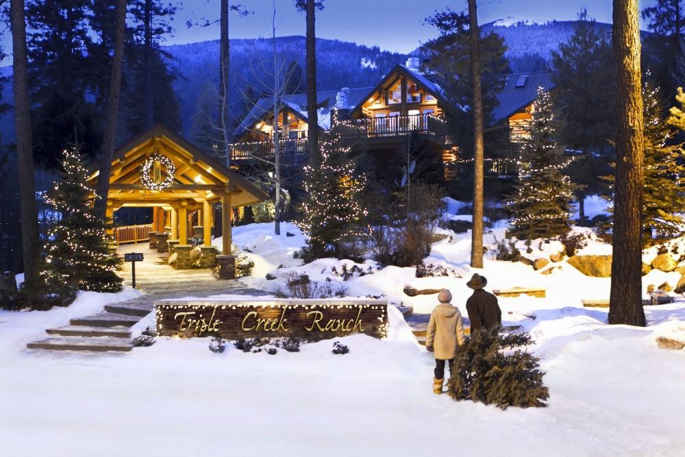 Triple Creek Ranch in winter
