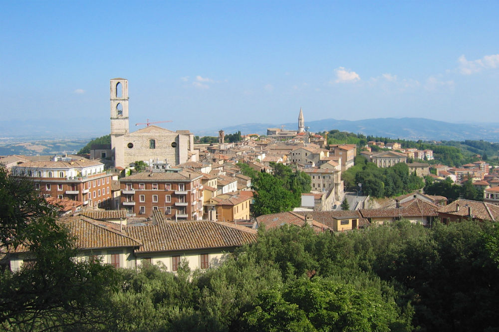the town of Perugia in Italy