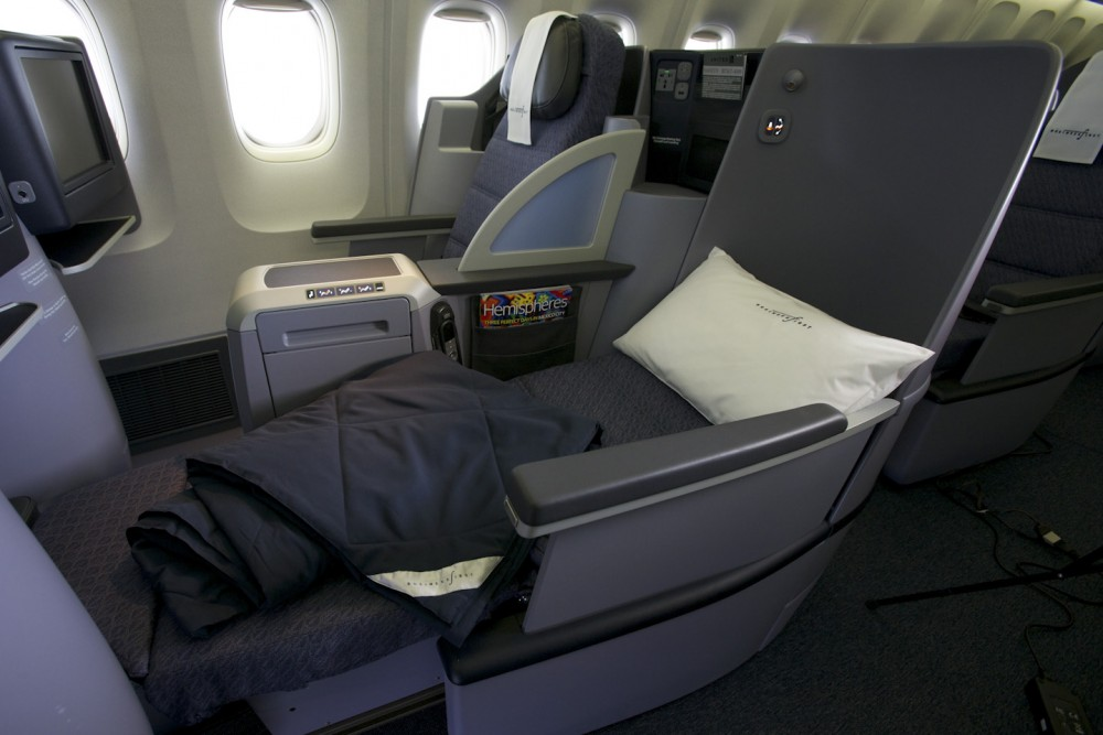 United Airlines Business First class