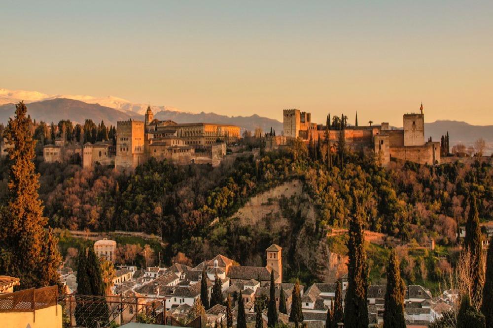 Puesta de sol, Alhambra, Spain