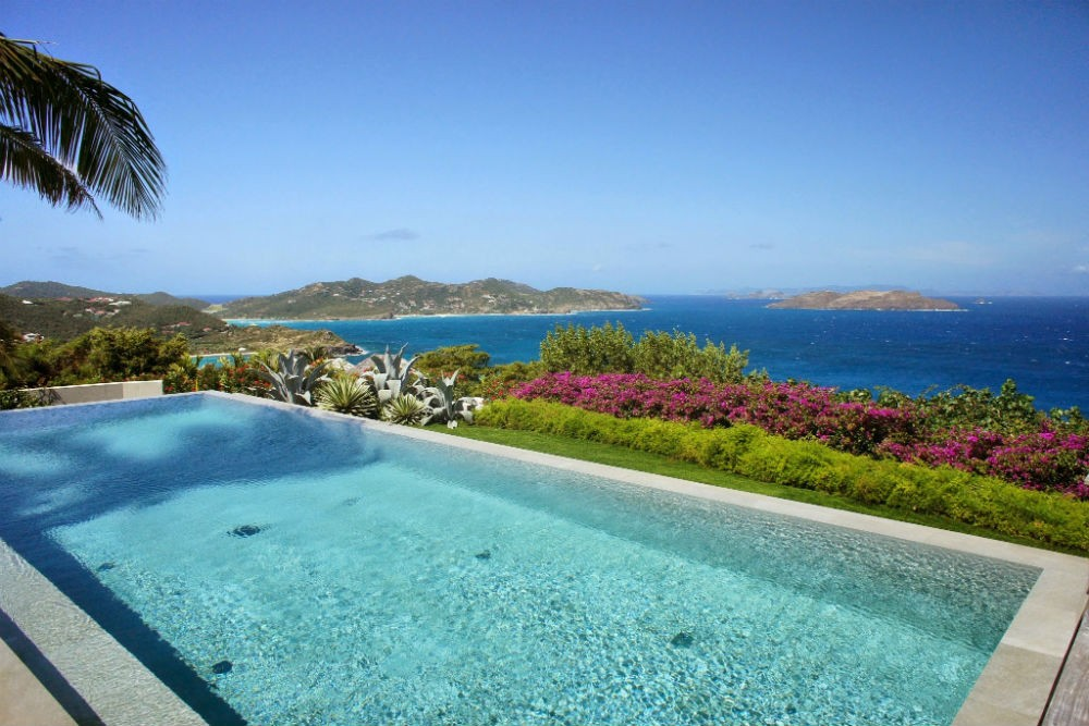 Poolside in St. Barts