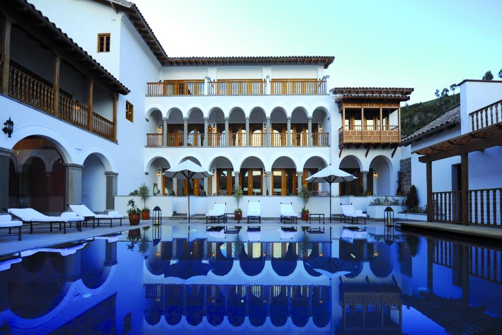 Pool at the Belmond Palacio Nazarenas, Peru