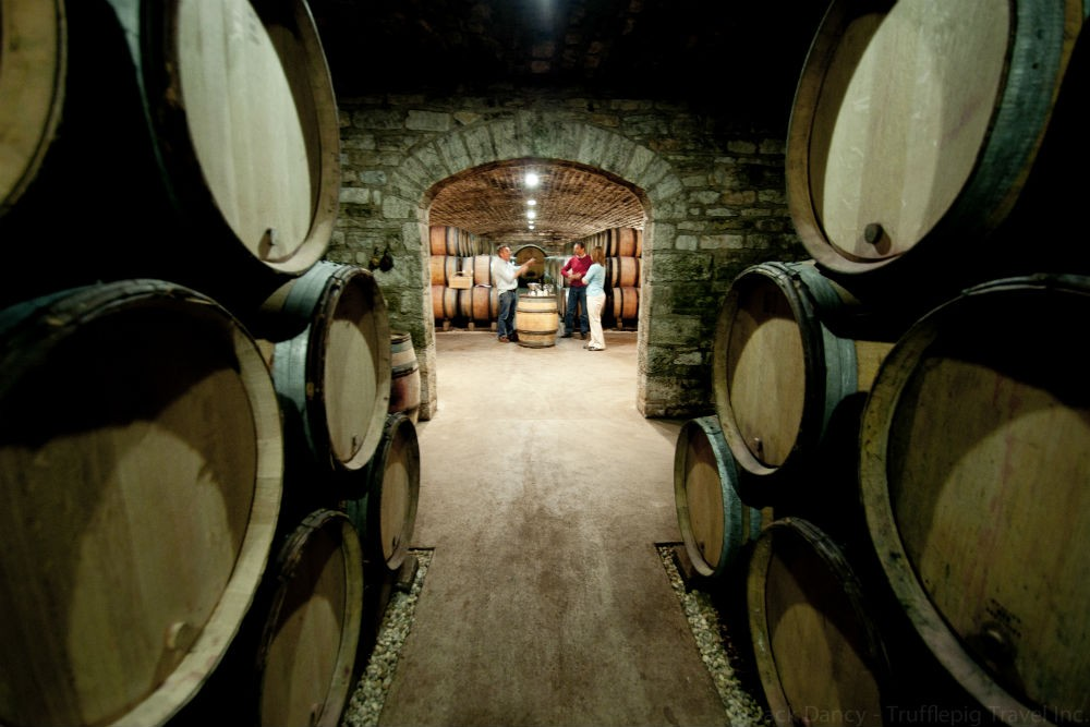 Visiting a winery in Burgundy