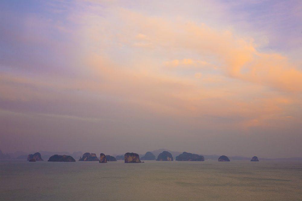 sunset on Koh Yao Noi island Thailand