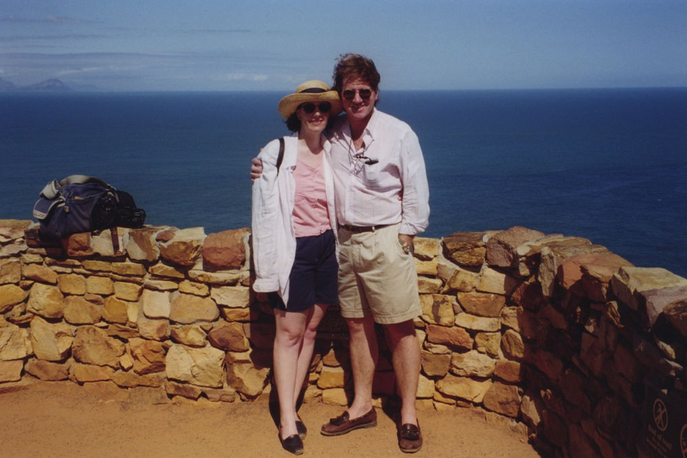 Wendy and Tim at the Cape of Good Hope in South Africa