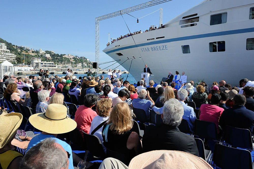 Star Breeze christening ceremony in Nice, France, on May 6, 2015