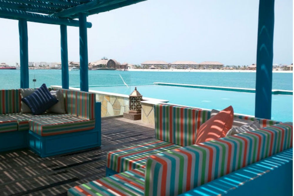An overwater bungalow in Doha.