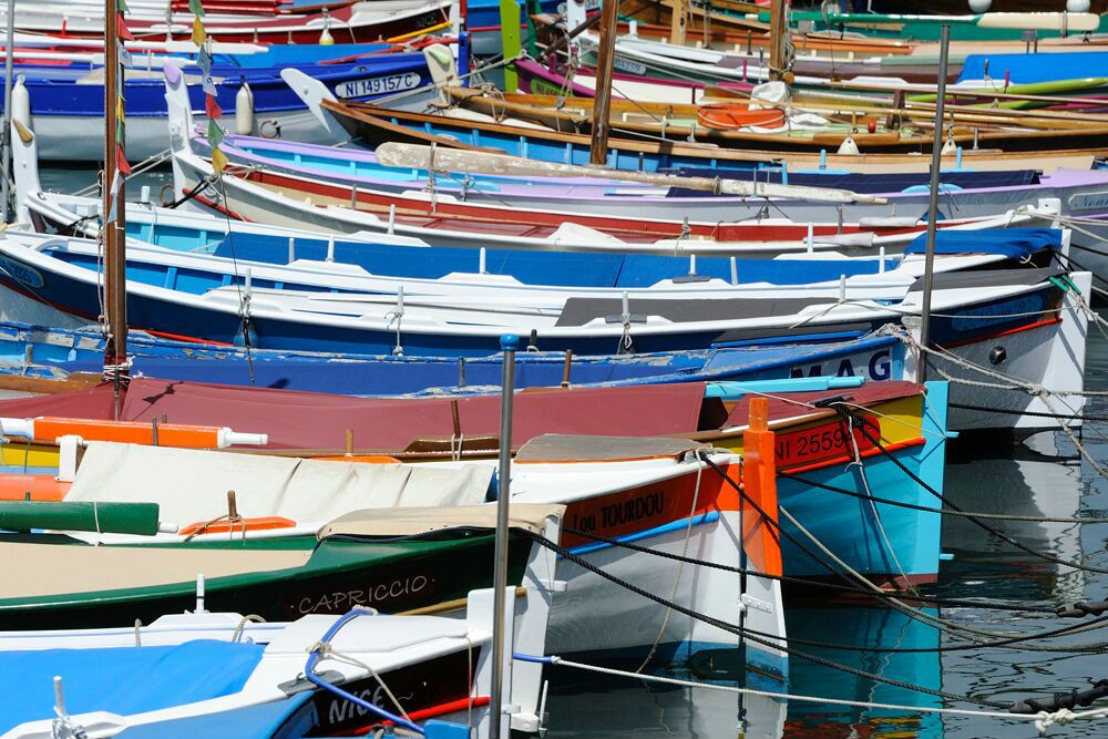 In Nice we were docked next to traditional fishing boats.