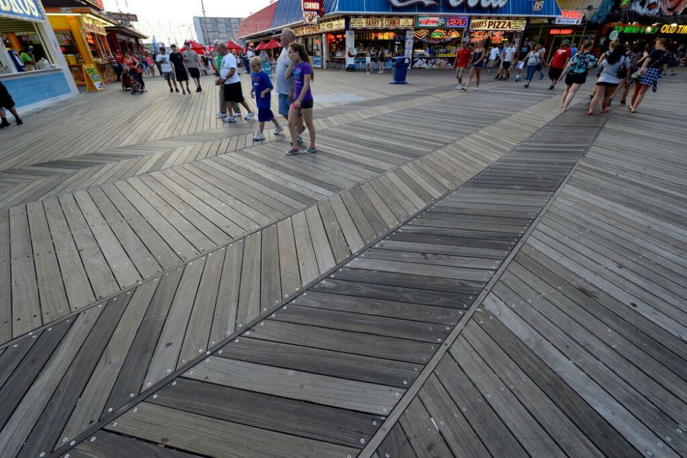 A small slice of Wildwood's two-mile Boardwalk