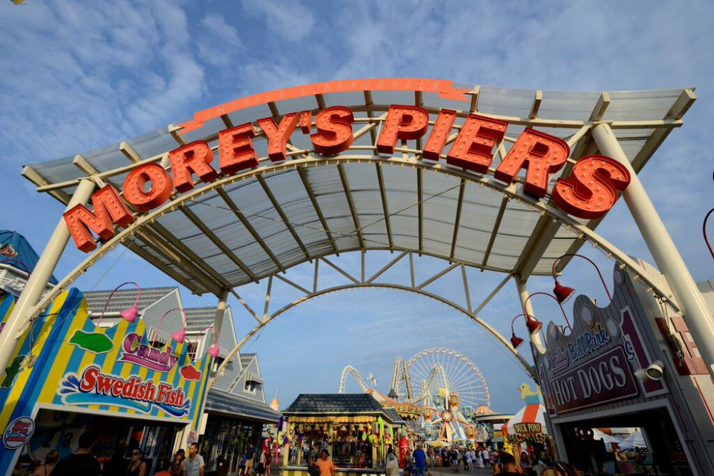 The biggest seaside amusement park in the Western Hemisphere: Morey's Piers and Beachfront Waterparks.