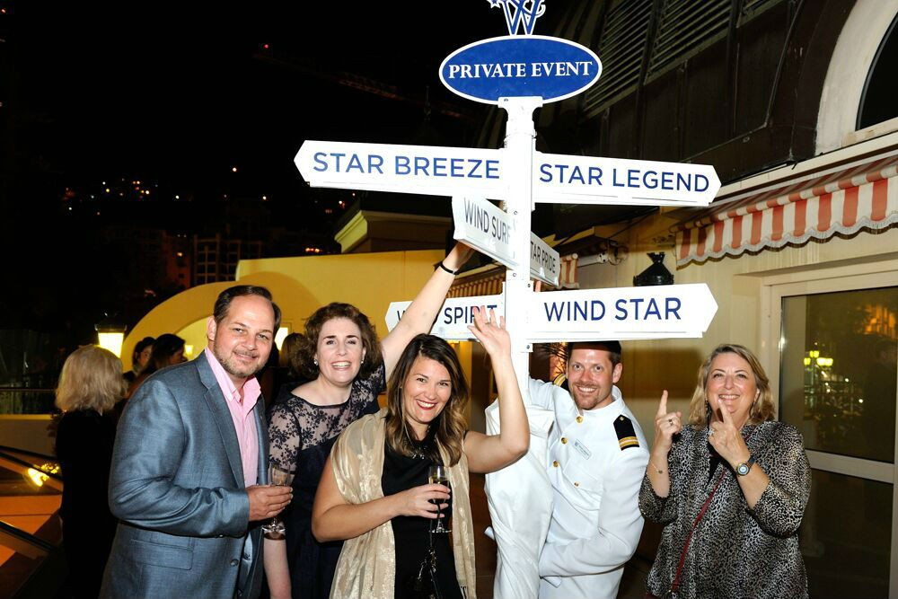 Wendy kidded around with some of the folks who run Windstar.
